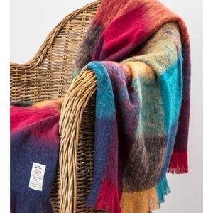 """AVOCA 56"""" X 72"""" Multi Color Wool Blanket"""